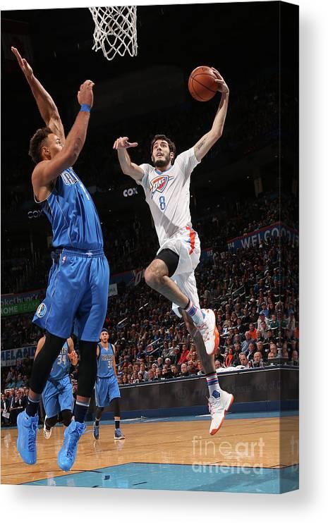 Nba Pro Basketball Canvas Print featuring the photograph Dallas Mavericks V Oklahoma City Thunder by Layne Murdoch