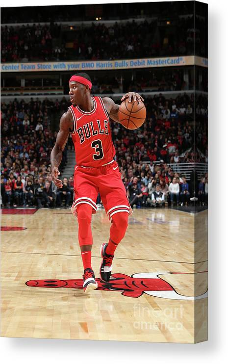 Nba Pro Basketball Canvas Print featuring the photograph Indiana Pacers V Chicago Bulls by Gary Dineen