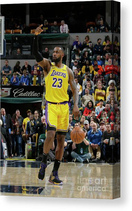 Nba Pro Basketball Canvas Print featuring the photograph Lebron James by Ron Hoskins