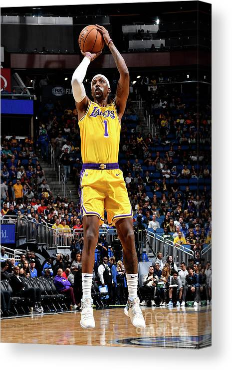 Nba Pro Basketball Canvas Print featuring the photograph Los Angeles Lakers V Orlando Magic by Fernando Medina