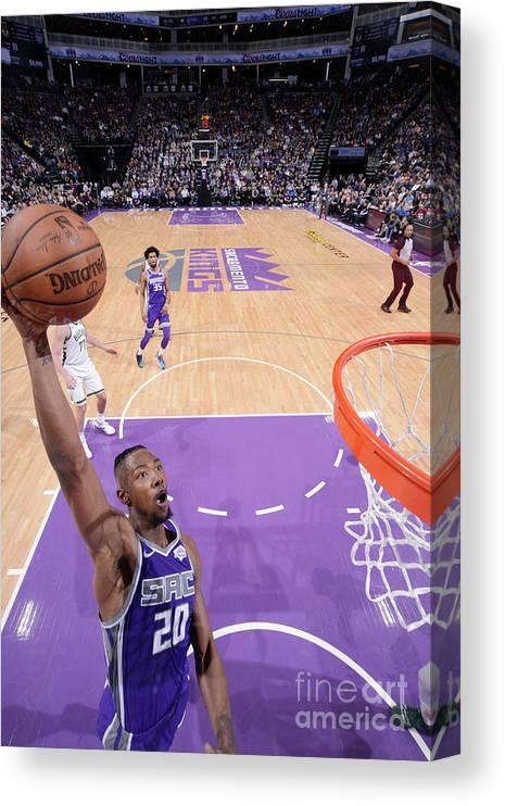 Nba Pro Basketball Canvas Print featuring the photograph Milwaukee Bucks V Sacramento Kings by Rocky Widner