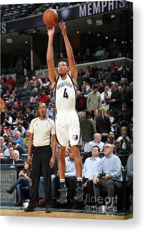 Nba Pro Basketball Canvas Print featuring the photograph Orlando Magic V Memphis Grizzlies by Joe Murphy