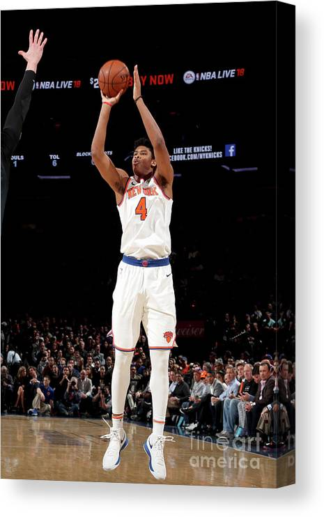 Nba Pro Basketball Canvas Print featuring the photograph Orlando Magic V New York Knicks by Nathaniel S. Butler