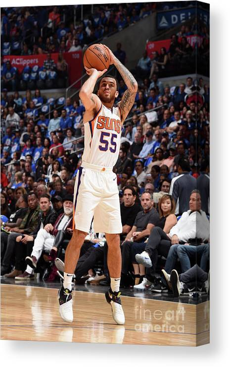 Nba Pro Basketball Canvas Print featuring the photograph Phoenix Suns V Los Angeles Clippers by Andrew D. Bernstein