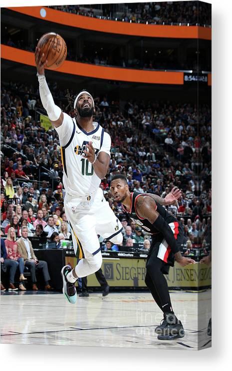 Nba Pro Basketball Canvas Print featuring the photograph Portland Trail Blazers V Utah Jazz by Melissa Majchrzak