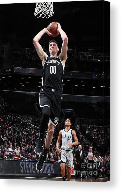 Nba Pro Basketball Canvas Print featuring the photograph San Antonio Spurs V Brooklyn Nets by Nathaniel S. Butler