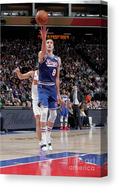 Nba Pro Basketball Canvas Print featuring the photograph Phoenix Suns V Sacramento Kings by Rocky Widner