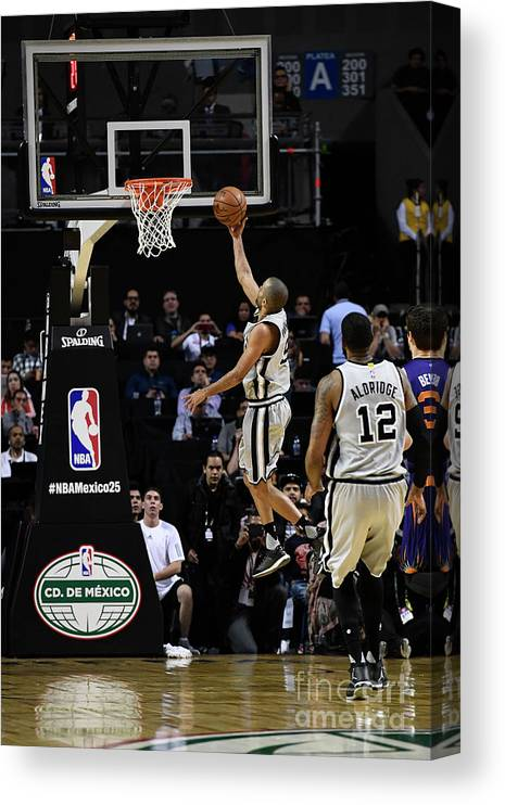 Event Canvas Print featuring the photograph 2017 Nba Global Games - San Antonio by David Dow
