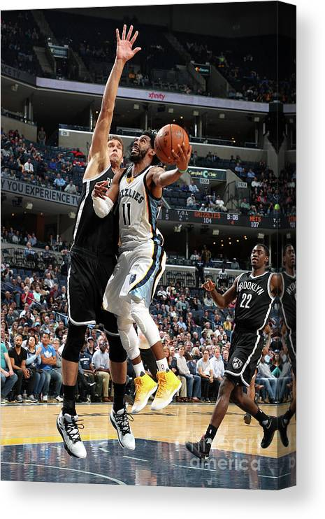 Nba Pro Basketball Canvas Print featuring the photograph Brooklyn Nets V Memphis Grizzlies by Joe Murphy