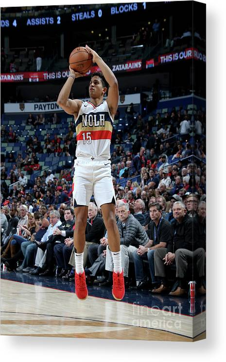 Smoothie King Center Canvas Print featuring the photograph Cleveland Cavaliers V New Orleans by Layne Murdoch Jr.