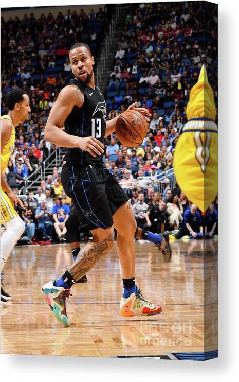 Nba Pro Basketball Canvas Print featuring the photograph Golden State Warriors V Orlando Magic by Fernando Medina