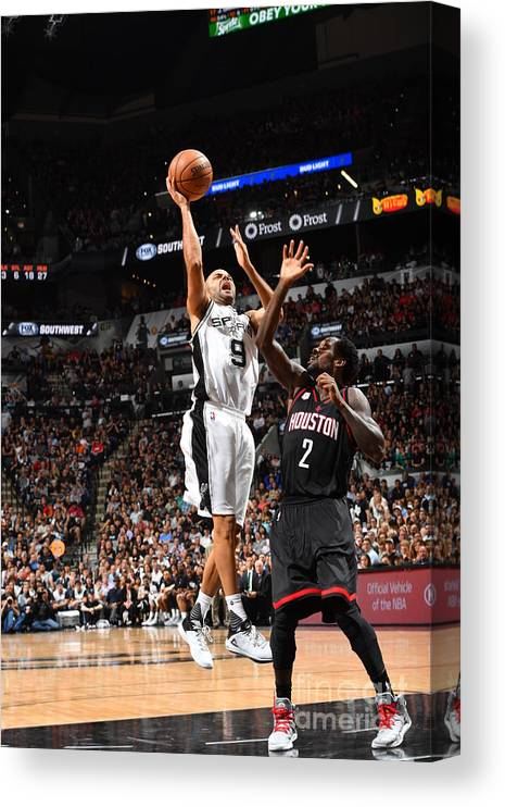 Playoffs Canvas Print featuring the photograph Houston Rockets V San Antonio Spurs - by Jesse D. Garrabrant