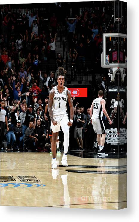 Nba Pro Basketball Canvas Print featuring the photograph Houston Rockets V San Antonio Spurs by Logan Riely
