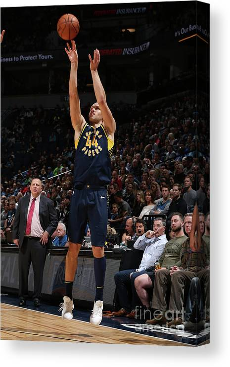 Nba Pro Basketball Canvas Print featuring the photograph Indiana Pacers V Minnesota Timberwolves by David Sherman