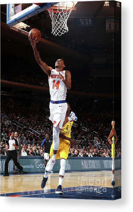 Nba Pro Basketball Canvas Print featuring the photograph Indiana Pacers V New York Knicks by Nathaniel S. Butler