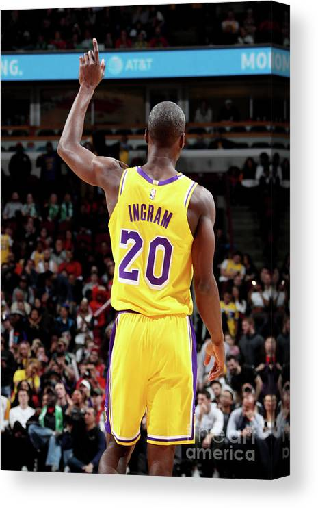 Andre Ingram Canvas Print featuring the photograph Los Angeles Lakers V Chicago Bulls by Nathaniel S. Butler