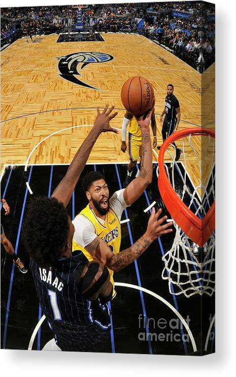 Nba Pro Basketball Canvas Print featuring the photograph Los Angeles Lakers V Orlando Magic by Fernando Medina