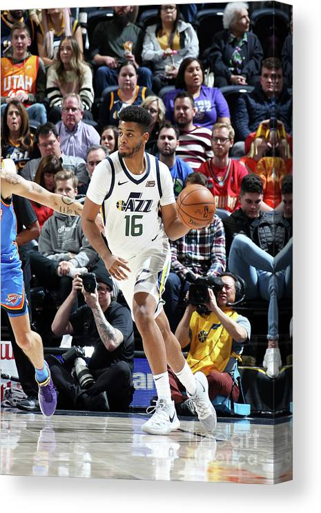 Nba Pro Basketball Canvas Print featuring the photograph Oklahoma City Thunder V Utah Jazz by Melissa Majchrzak