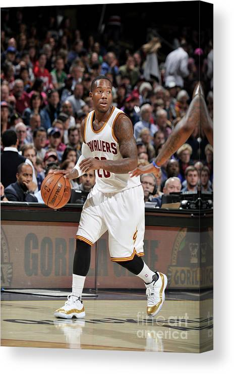 Nba Pro Basketball Canvas Print featuring the photograph Orlando Magic V Cleveland Cavaliers by David Liam Kyle