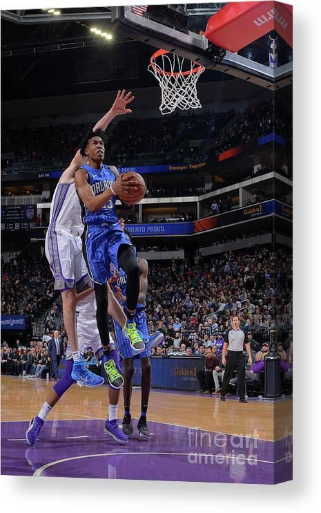 Nba Pro Basketball Canvas Print featuring the photograph Orlando Magic V Sacramento Kings by Rocky Widner