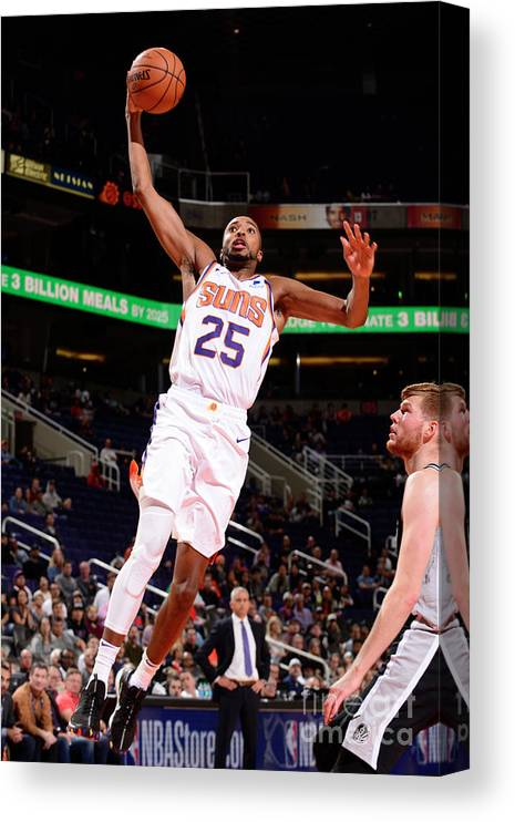 Nba Pro Basketball Canvas Print featuring the photograph San Antonio Spurs V Phoenix Suns by Barry Gossage