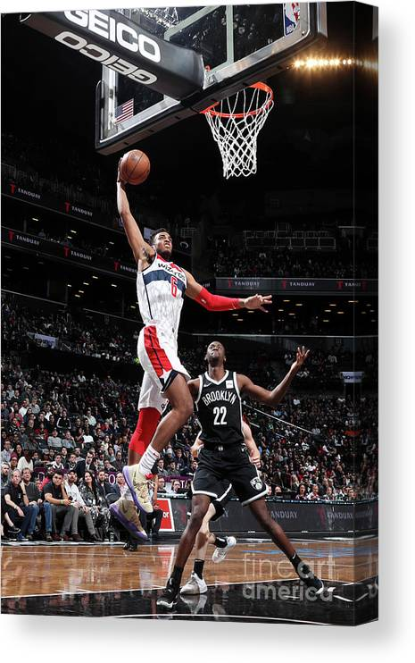 Nba Pro Basketball Canvas Print featuring the photograph Washington Wizards V Brooklyn Nets by Nathaniel S. Butler