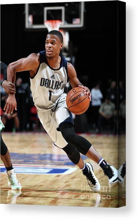 Nba Pro Basketball Canvas Print featuring the photograph 2017 Las Vegas Summer League - Boston by Garrett Ellwood