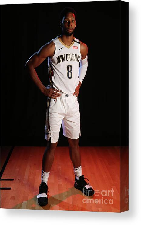 Media Day Canvas Print featuring the photograph 2018-19 New Orleans Pelicans Media Day by Layne Murdoch Jr.