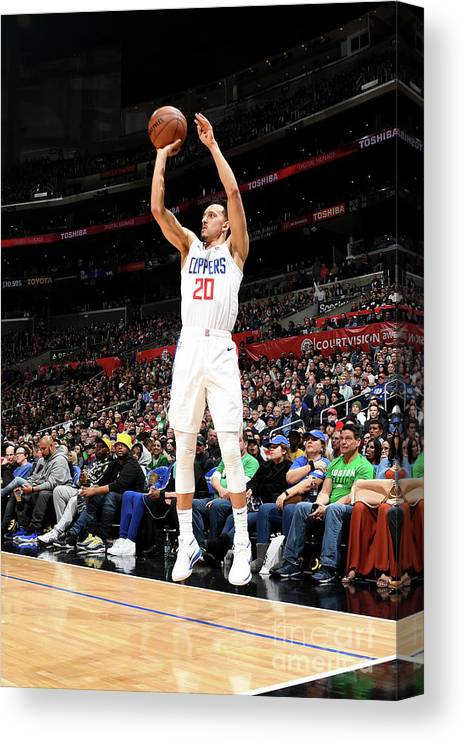 Nba Pro Basketball Canvas Print featuring the photograph Boston Celtics V La Clippers by Andrew D. Bernstein