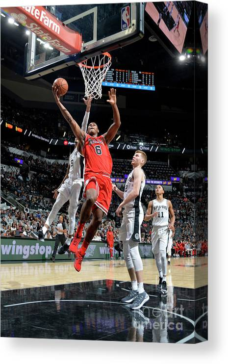 Nba Pro Basketball Canvas Print featuring the photograph Chicago Bulls V San Antonio Spurs by Mark Sobhani