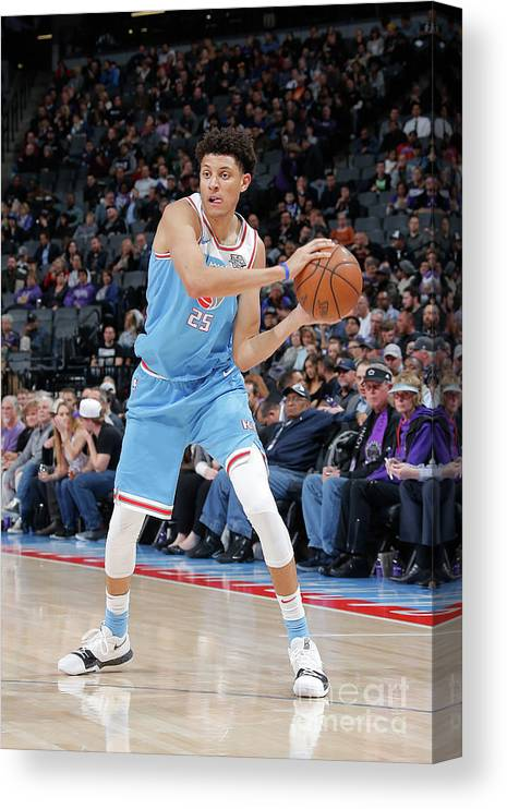 Nba Pro Basketball Canvas Print featuring the photograph Minnesota Timberwolves V Sacramento by Rocky Widner
