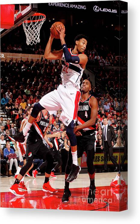 Nba Pro Basketball Canvas Print featuring the photograph Washington Wizards V Portland Trail by Cameron Browne