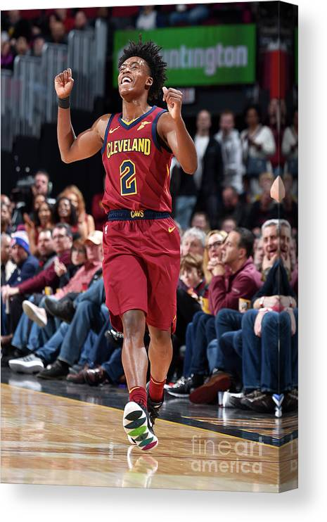 Nba Pro Basketball Canvas Print featuring the photograph Indiana Pacers V Cleveland Cavaliers by David Liam Kyle