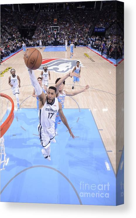 Nba Pro Basketball Canvas Print featuring the photograph Memphis Grizzlies V Sacramento Kings by Rocky Widner