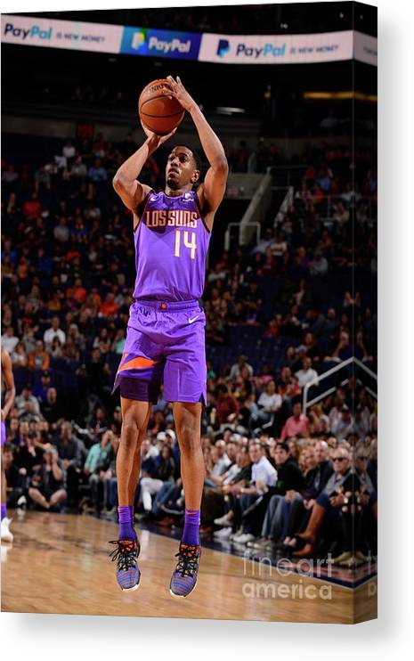 Nba Pro Basketball Canvas Print featuring the photograph New Orleans Pelicans V Phoenix Suns by Barry Gossage