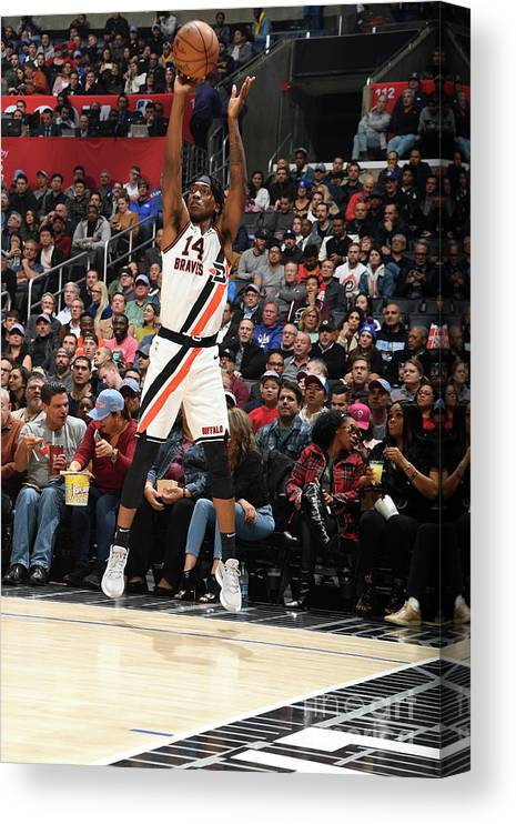 Nba Pro Basketball Canvas Print featuring the photograph Portland Trail Blazers V La Clippers by Andrew D. Bernstein
