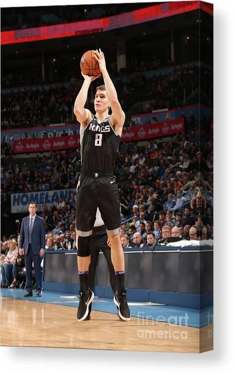 Nba Pro Basketball Canvas Print featuring the photograph Sacramento Kings V Oklahoma City Thunder by Layne Murdoch