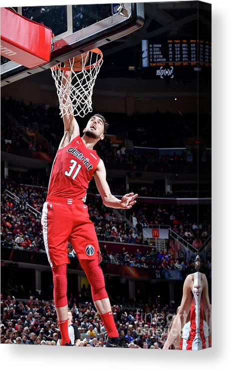 Nba Pro Basketball Canvas Print featuring the photograph Washington Wizards V Cleveland Cavaliers by David Liam Kyle