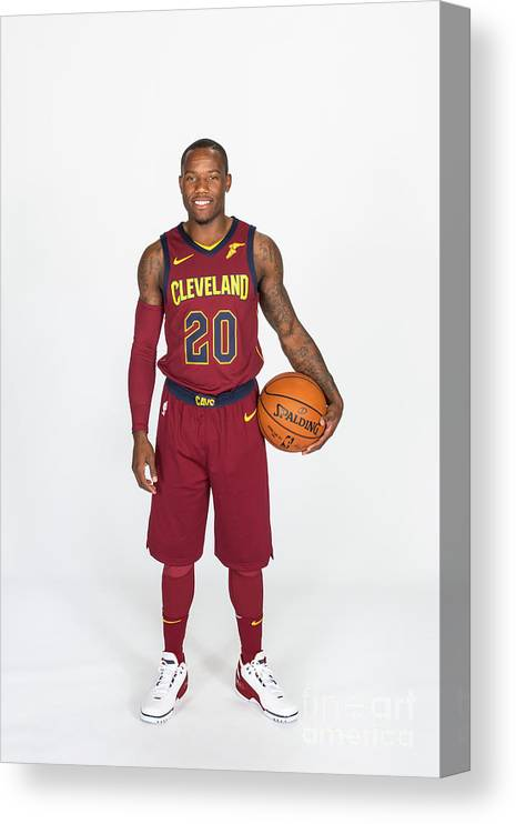 Media Day Canvas Print featuring the photograph 2017-18 Cleveland Cavaliers Media Day by Michael J. Lebrecht Ii