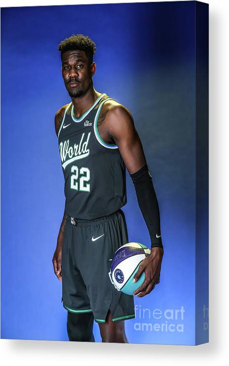 Nba Pro Basketball Canvas Print featuring the photograph 2019 Nba All Star Portraits by Michael J. Lebrecht Ii