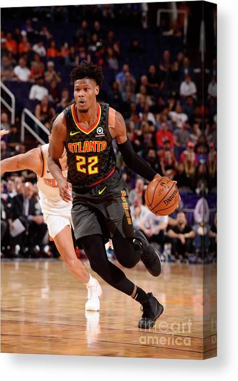 Nba Pro Basketball Canvas Print featuring the photograph Atlanta Hawks V Phoenix Suns by Barry Gossage