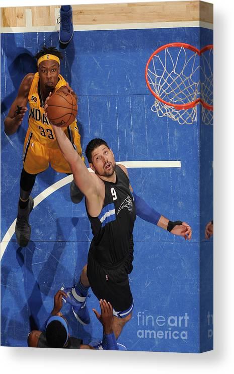 Nba Pro Basketball Canvas Print featuring the photograph Indiana Pacers V Orlando Magic by Fernando Medina