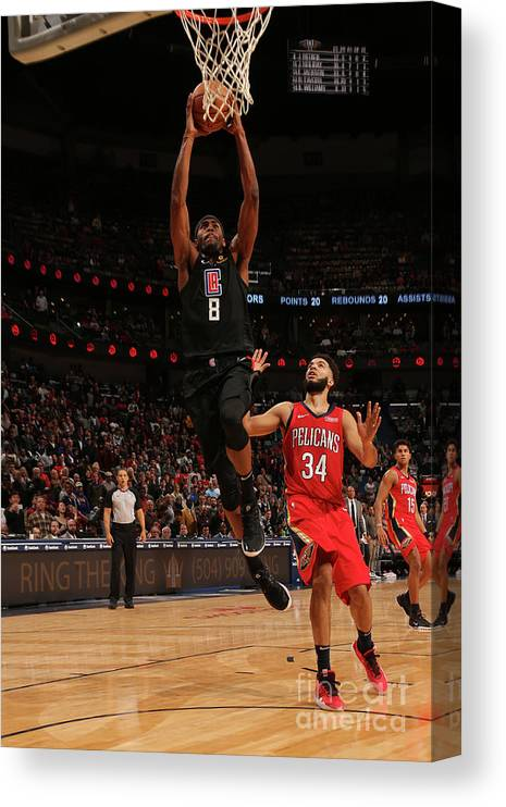 Moe Harkless Canvas Print featuring the photograph La Clippers V New Orleans Pelicans by Layne Murdoch Jr.