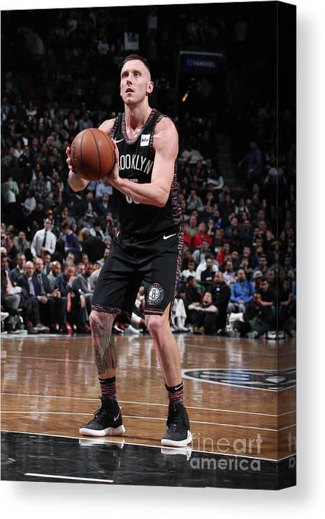 Nba Pro Basketball Canvas Print featuring the photograph Milwaukee Bucks V Brooklyn Nets by Nathaniel S. Butler