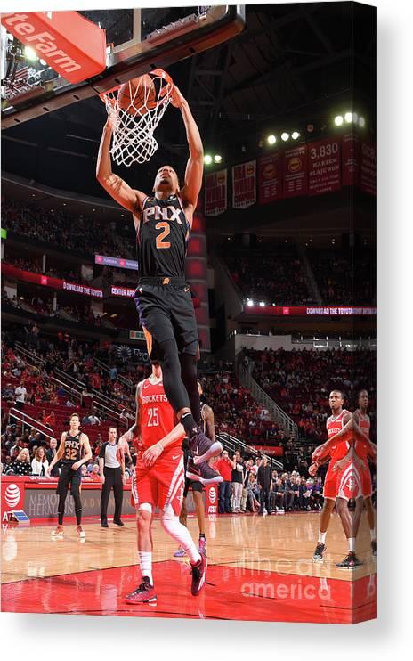 Nba Pro Basketball Canvas Print featuring the photograph Phoenix Suns V Houston Rockets by Bill Baptist