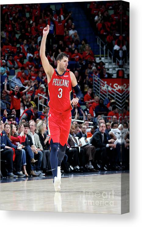 Smoothie King Center Canvas Print featuring the photograph Sacramento Kings V New Orleans Pelicans by Layne Murdoch Jr.