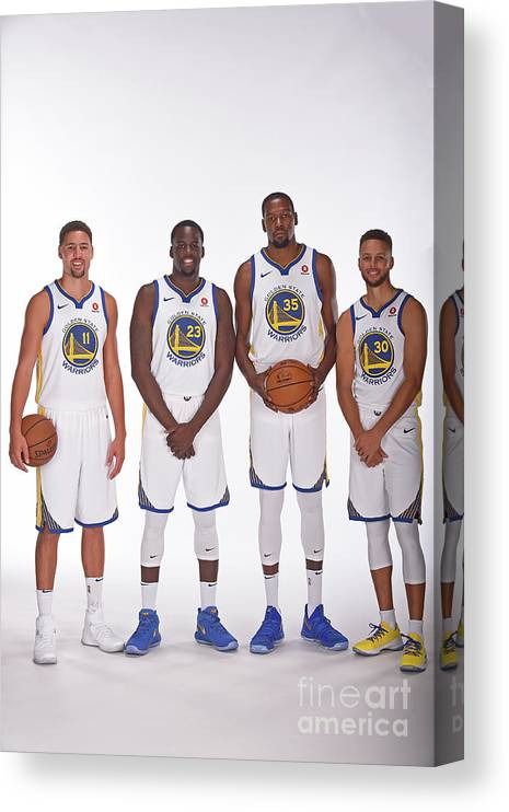Media Day Canvas Print featuring the photograph 2017-18 Golden State Warriors Media Day by Noah Graham