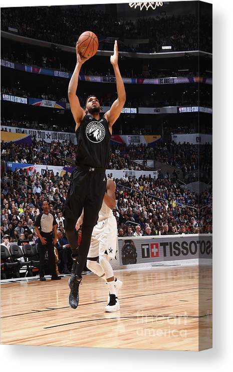 Nba Pro Basketball Canvas Print featuring the photograph 2018 Nba All-star Game by Andrew D. Bernstein