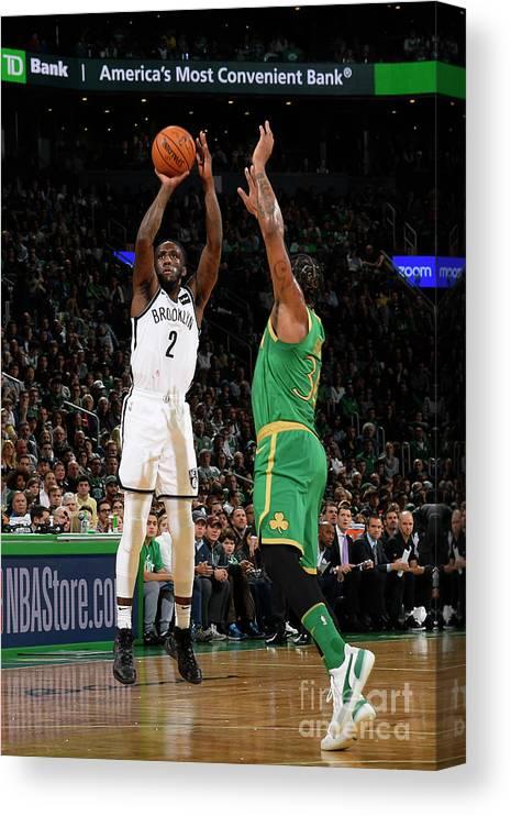Nba Pro Basketball Canvas Print featuring the photograph Brooklyn Nets V Boston Celtics by Brian Babineau