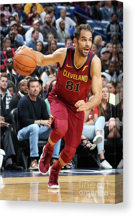 Smoothie King Center Canvas Print featuring the photograph Cleveland Cavaliers V New Orleans by Layne Murdoch